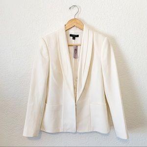 Ann Taylor Ivory Wool Longline Blazer size 6P